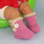 Baby Fur Trim One Button Booties5