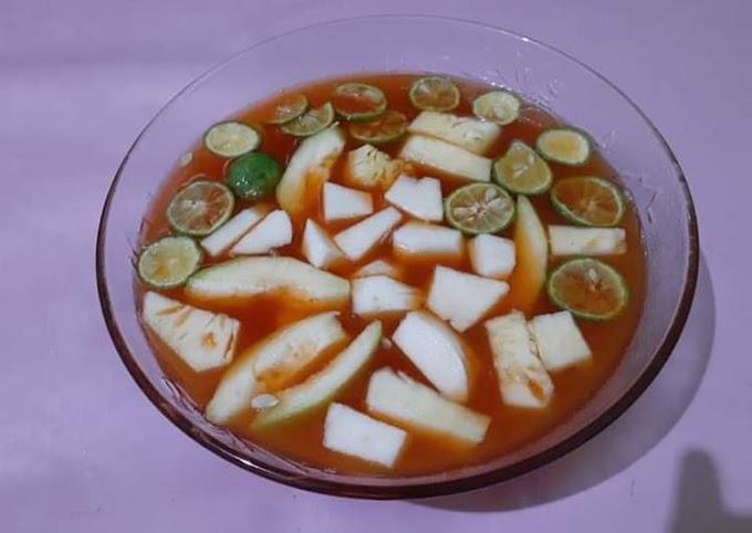 Resep Asinan buah praktis Anti Gagal