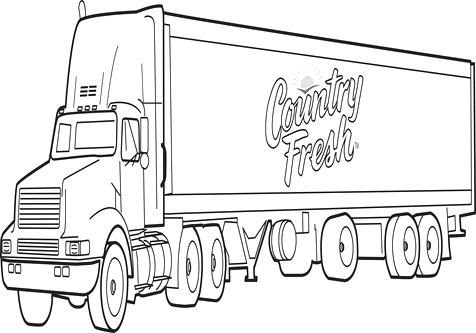 trailer truck drawing at getdrawings  free download