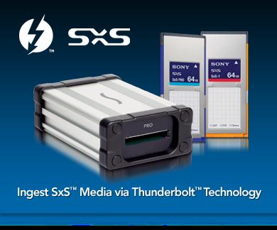 Ingesta SxS Medios a través de Thunderbolt Tecnología