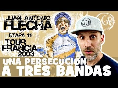 TDF2003. 'UNA PERSECUCIÓN A TRES BANDAS'. Tour de Francia 2003. Etapa 11 - Alfonso Blanco