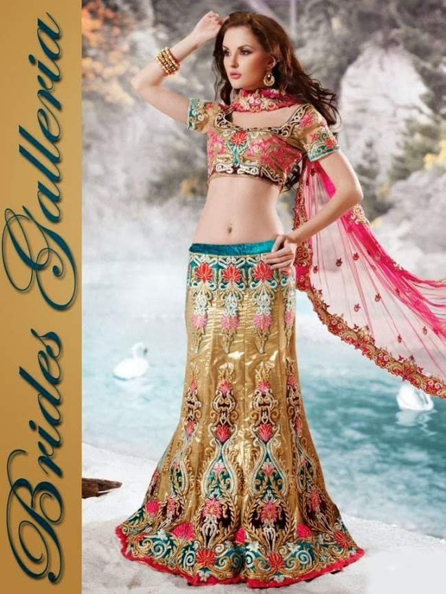 Indian-Bridal-Wedding-Lehangas-Velvet-Embroidered-Blouse-Fish-Cut-Lehenga-by-Brides-Galleria-4