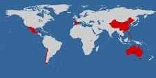 Países visitados en mi vuelta al mundo 2007