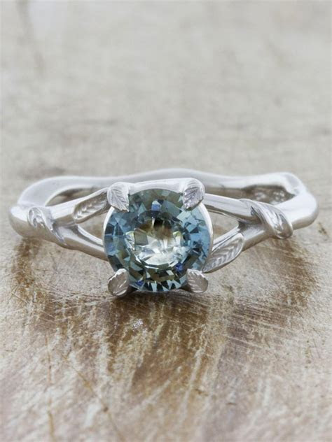 Pembroke   Sapphire: Nature InspiredLeaf Detailed