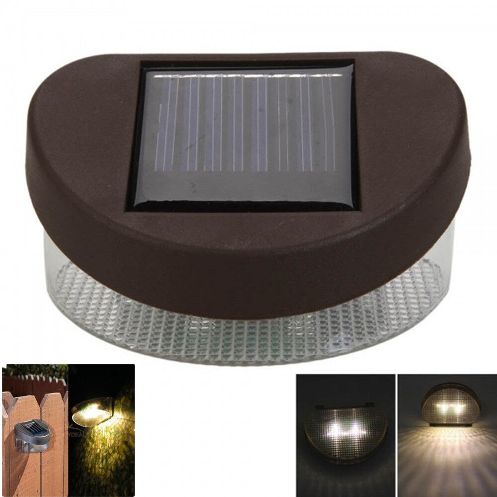 Outdoor Solar Light Path Wall Mounted Garden Fence LED Waterproof Landscape Lamp  eBay