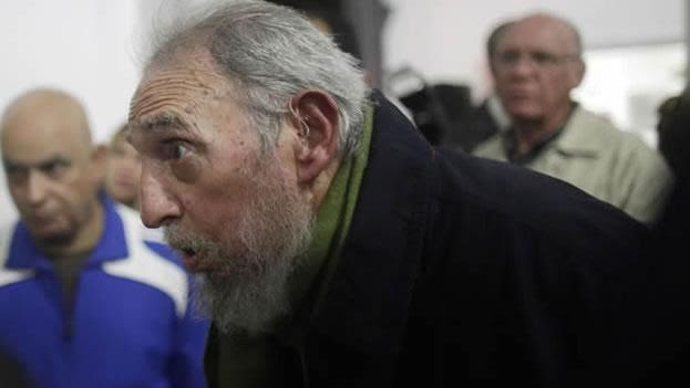 Fidel Castro en enero del 2014