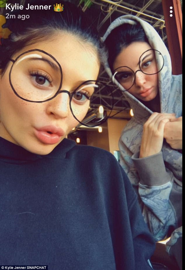 Sister time: The Kardashians and Jenners appeared to all be together, minus Kim