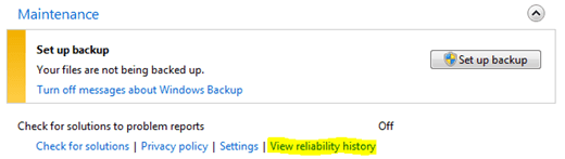 view reliability history