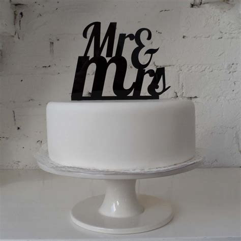 Mr And Mrs Acrylic Wedding Cake Topper   The Wedding of My