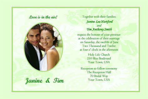 wedding invitation : Sample wedding invitation card   New