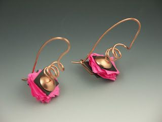 New Jewelry A Day: Make Paper and Rubber Earrings