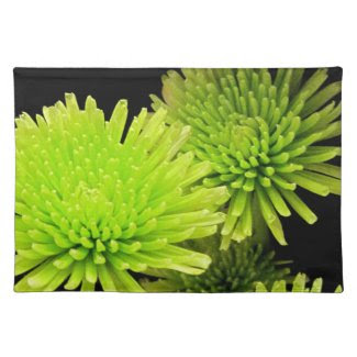 Green Flower Placemats