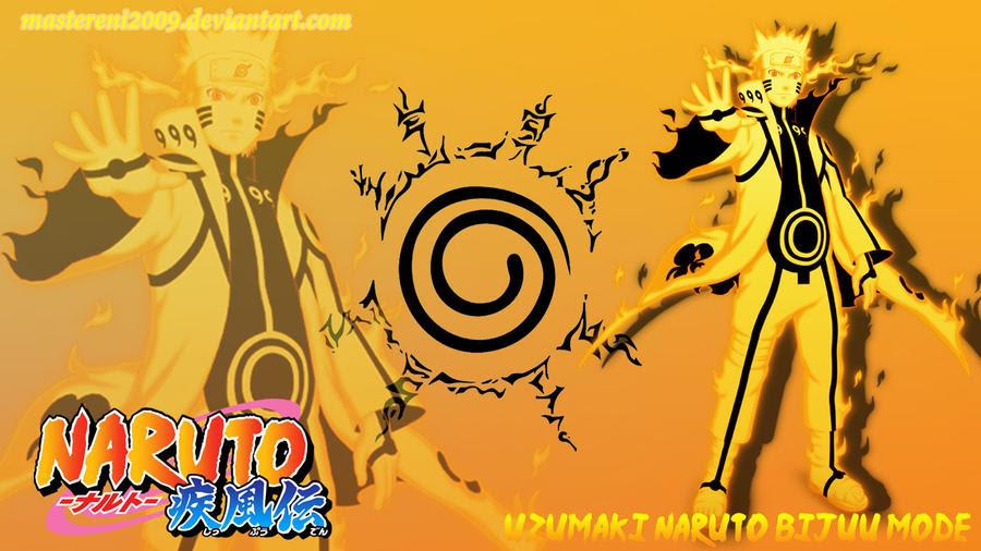 Naruto Shippuden Wallpaper Naruto Bijuu Mode By Mastereni2009 On Deviantart