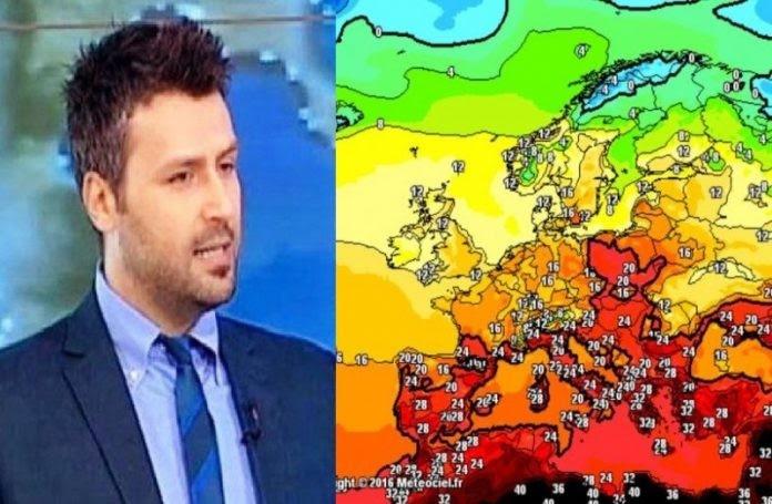 Ο Γιάννης Καλλιάνος προειδοποιεί: Καύσωνας όλη την εβδομάδα, θα βαρέσει 40αρια!