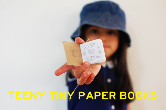 teeny tiny paper books