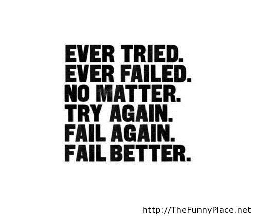 Never Give Up Motivational Life Quote Try Again And Again