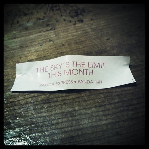 Chinese food has given me a green light to rock this month. Too bad there's only 4 days left.
