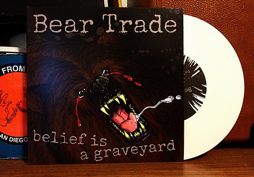 "Bear Trade - Belief is a Graveyard 7"" - White Vinyl (/100) by Tim PopKid"