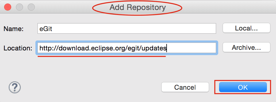 Eclipse - Add Repository
