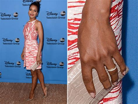 Kerry Washington of 'Scandal' fame debuts wedding ring