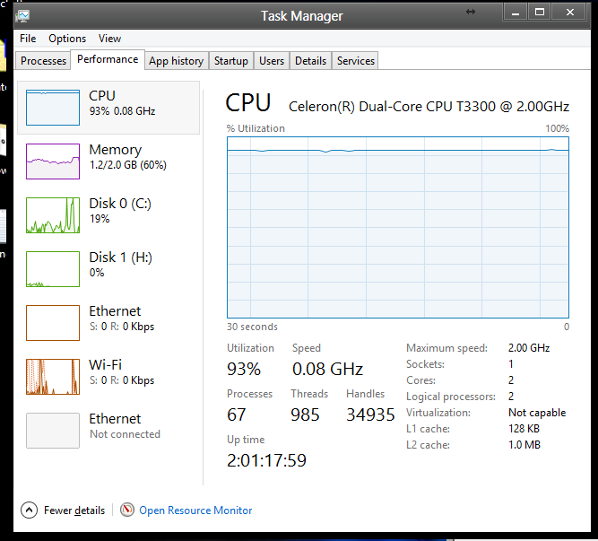 Task Manager Reports Very Slow CPU Clock Speeds! - BetaArchive