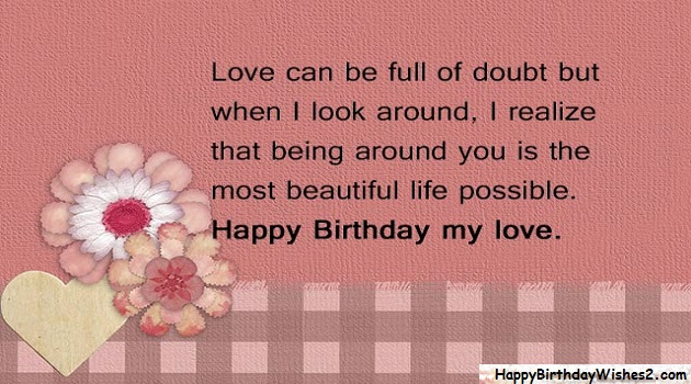 Top 100 Happy Birthday Wishes Messages Quotes For Lover Love