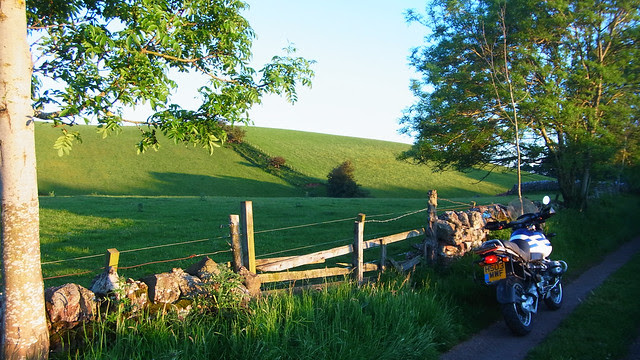 Lesser used roads in East Lothian.