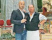 A sinistra Joseph Bastianich e a destra Mario Batali