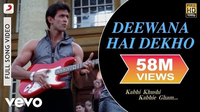 Deewana Hai Dekho - K3G|Hrithik Roshan|Kareena Kapoor|Alka Yagnik|Sonu Nigam - Alka Yagnik, Sonu Nigam & Kareena Kapoor Lyrics in hindi