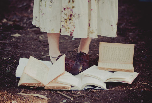 tender books and oxford shoes