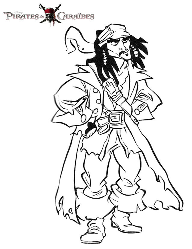 Coloriage Pirates Des Caraibes Az Coloriage