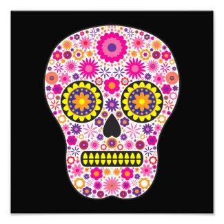 Pink Mexican Sugar Skull Photographic Print