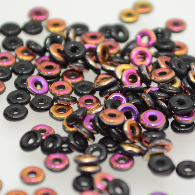 s39094 Czech Seedbeads -  O Beads - Jet Sliperit