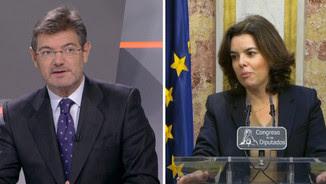 Catalá i Sáenz de Santamaría han parlat aquest dijous sobre la situació a Catalunya