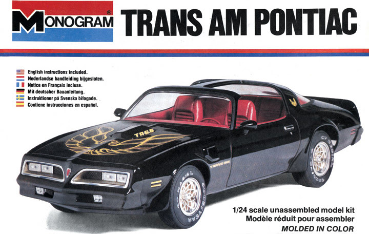 Classic Model Car Kits: 1977  1978 Pontiac Trans Am by Monogram and MPC  The Daily Drive