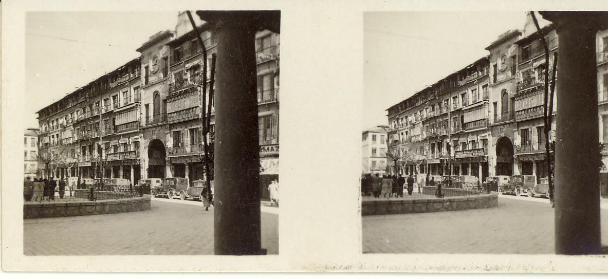 Fotografía estereoscópica de Toledo. Zocodover