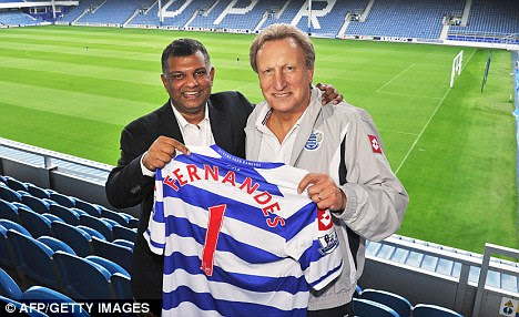 Hero or villain?: Tony Fernandes was welcomed with open arms by QPR fans