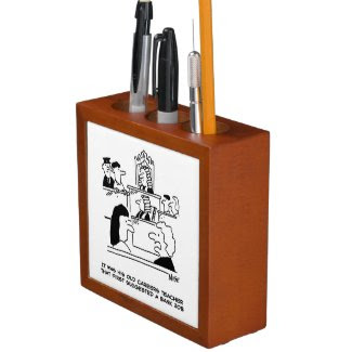 Bank and Banking Theme Desk Tidy Desk Organiser