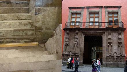 Escalinata Templo Tezcatlipoca en Palacio Arzobispal