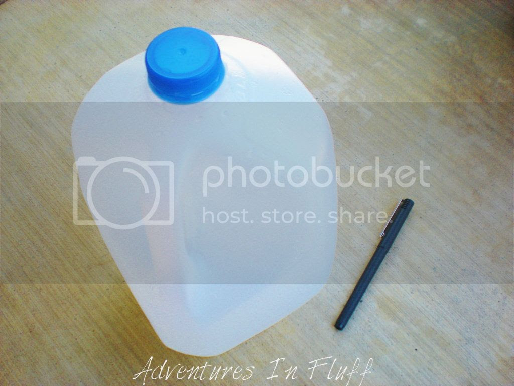 What you will need: Milk jug & Pen