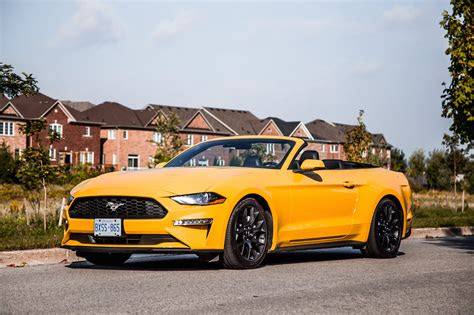 review  ford mustang ecoboost convertible car