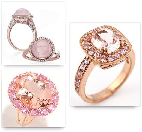 Rose Gold Ring: Rose Gold Ring With Pink Stones