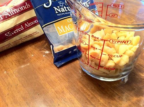 Combine Macadamia Nuts with Slivered Almonds