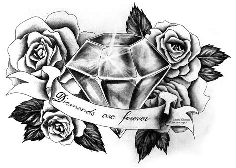 roses diamond tattoo google search diamond tattoos