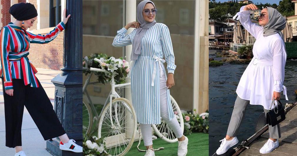 موضة ملابس محجبات  صيف 2019 - الوان موضة صيف 2019 للمحجبات