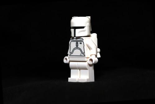 Boba Fett Lego Minifigure. White Boba Fett