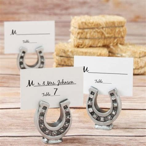 Horseshoe Photo Holder, Horseshoe Place Cards Holder