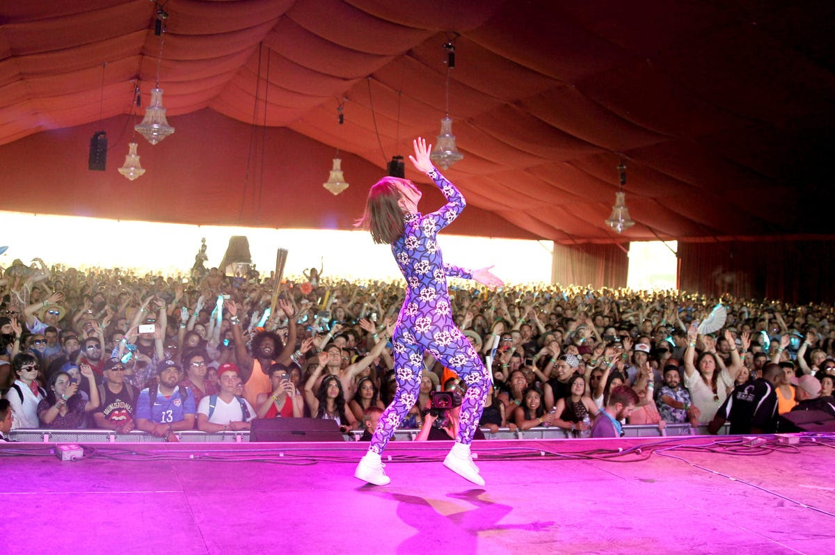 French singer Yelle rocked an incredible onesie.