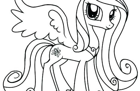 my little pony cadence coloring pages at getcolorings