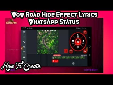Wow Hide in Tree Lyrics Style WhatsApp Status Editing Tutorial #16|Kinemaster Editing|Darkroom TechWow Hide in Tree Lyrics Style WhatsApp Status Editing Tutorial #16|Kinemaster Editing|Darkroom Tech